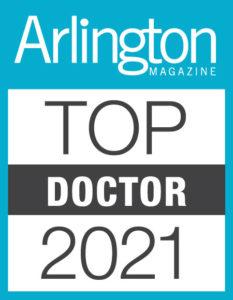 photo of Arlington Top Doctor 2021 badge